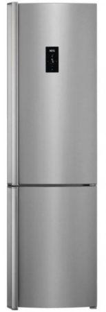 AEG A+++ 341L NoFrost kombinált hűtőszekrény INOX RCB93734KX-22%!!
