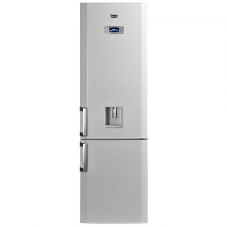 Beko A+ 325L vízadagolós hangrögzítős kombinált hűtőszekrény FEHÉR DBK386WDR+-20%!!