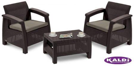 ALLIBERT Corfu Weekend műrattan kerti bútor szett barna -35%!!!