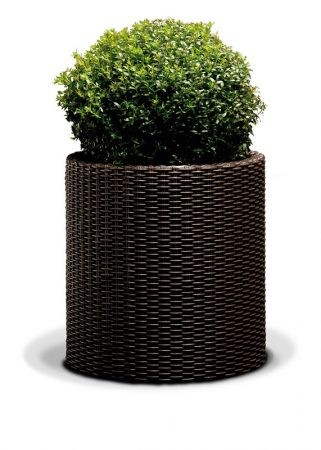 KETER  Cylinder planter large műrattan virágtartó -20%!!