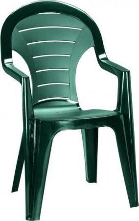 CURVER Bonaire magastámlás műanyag kerti szék zöld -20%!!!