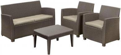 ALLIBERT Corona műrattan kerti bútor szett cappuccino -26%!!!