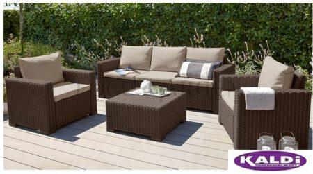 ALLIBERT California műrattan kerti bútor szett 4 részes 3 személyes kanapéval BARNA -38%!!!
