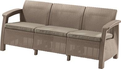 ALLIBERT Corfu Love Seat Max műrattan kanapé 3 személyes cappuccino -15%!!!