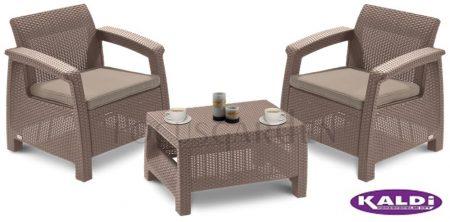 ALLIBERT Corfu Weekend műrattan kerti bútor szett cappuccino -35%!!!