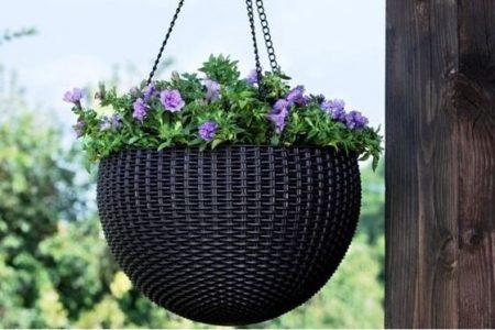 KETER Hanging sphere planter műrattan függő virágtartó -18%!!!