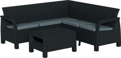 ALLIBERT Corfu Relax műrattan kerti bútor szett szürke-30%!!