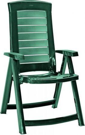 CURVER Aruba dönthető háttámlás műanyag sötét zöld kerti szék -22%!!!