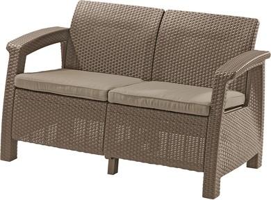 ALLIBERT Corfu Love Seat műrattan kanapé 2 személyes cappuccino -13%!!!