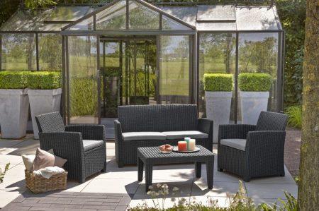 ALLIBERT Corona műrattan kerti bútor szett szürke -26%!!!