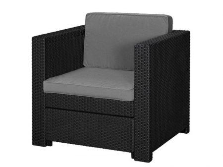 Keter Provence armchair műrattan kerti fotel szürke-15%!!