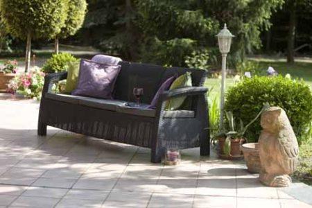 ALLIBERT Corfu Love Seat Max műrattan kanapé 3 személyes szürke -15%!!!