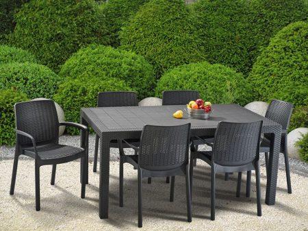 KETER Melody műrattan kerti asztal szürke -19%!!!