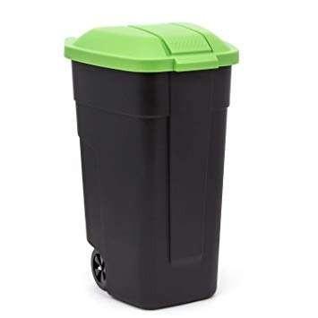 Curver Refuse Bin görgős szemetes 110 L fekete-zöld -20%!!
