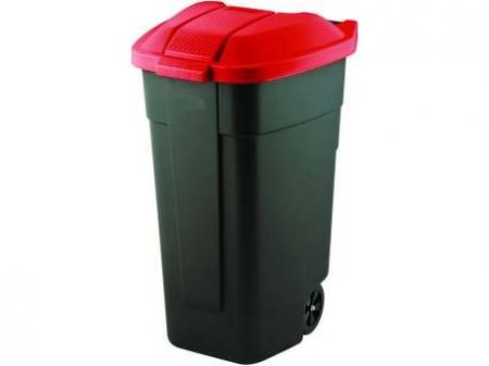 Curver Refuse Bin görgős szemetes 110 L fekete-piros -20%!!