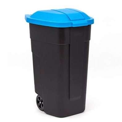 Curver Refuse Bin görgős szemetes 110 L fekete-kék -20%!!