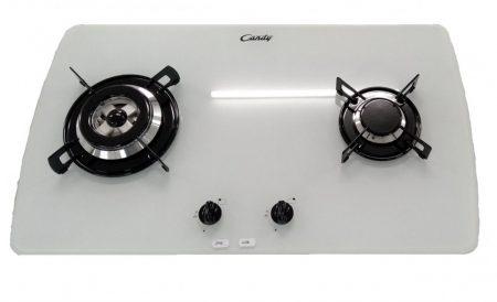 Candy 2 gázégős WOK beépíthető üveg gázfőzőlap 76 cm FEHÉR PVT720SW-45%!!