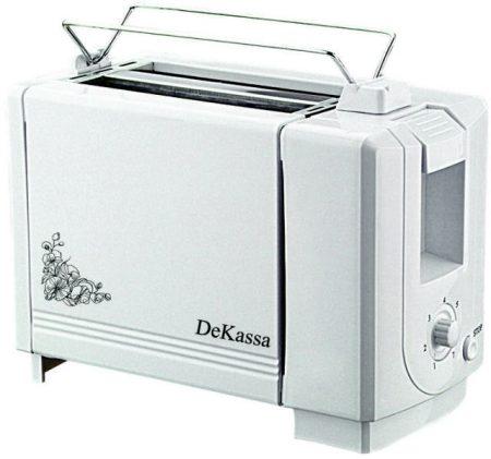 DeKassa DK-1510 2 szeletes fehér kenyérpirító -33%!!